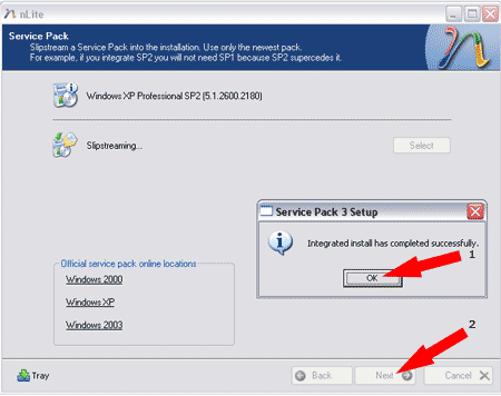Successful Integration of Service Pack 3 into Windows XP