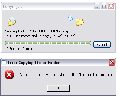 Error Copying File