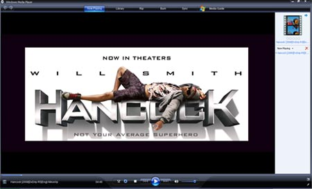 Hancock Trailer AVI in Windows Media