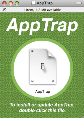 Simply click the Apptrap Installer to install