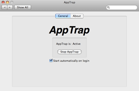 Start AppTrap at login