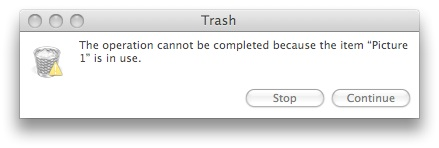 Empty Trash Error