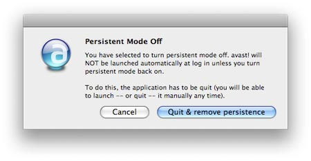 quit and remove persistence