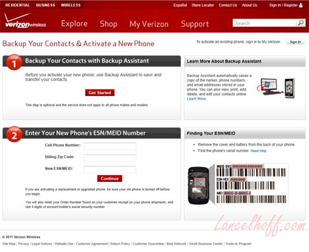 Activate a Droid on Verizon