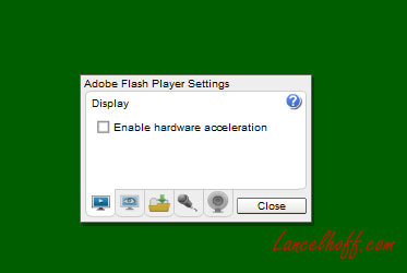 Disable Hardware Acceleration