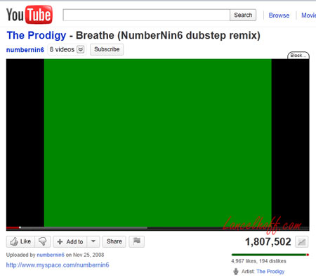 YouTube Green Screen instead of Video
